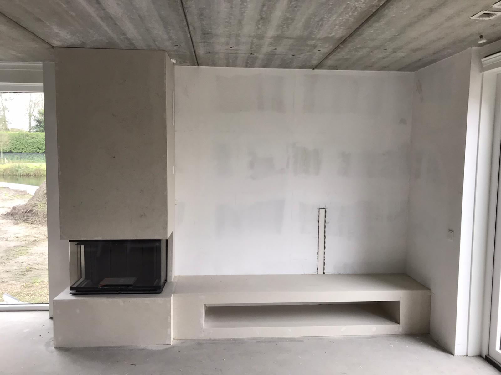 Schmid liftdeurhaard met op maat gemaakt meubel